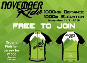 November Ride event poster