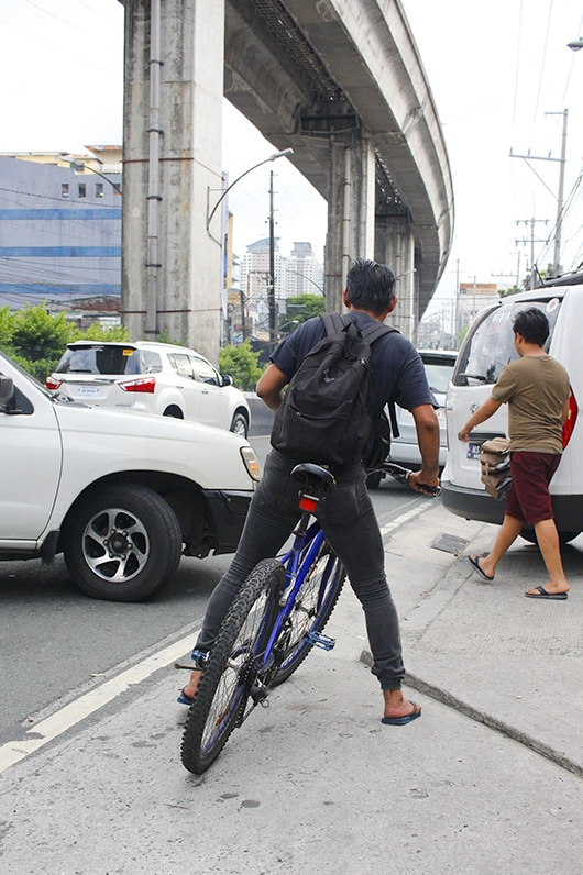 Cyclists and pedestrians are inconvenienced by cars