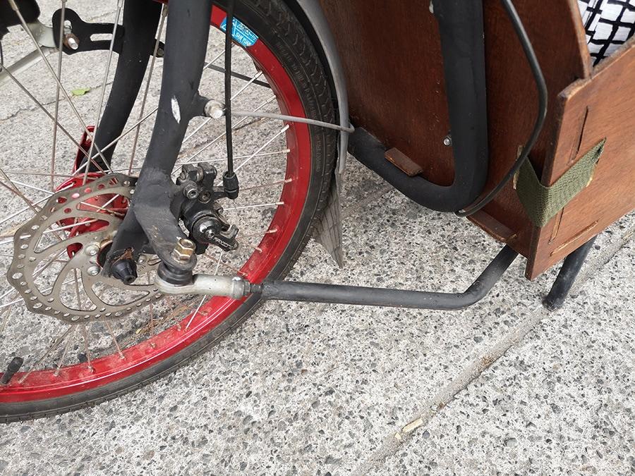 Compact Utility Bike (CUB) disk brake