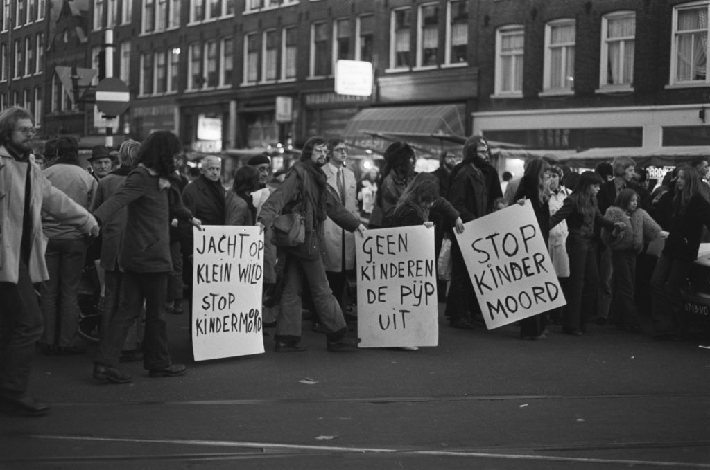 Kindermoord protests in Amsterdam